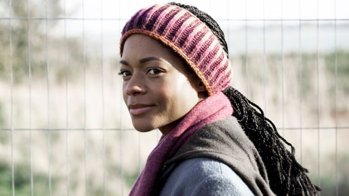 Third Day - Helen (Naomie Harris) arrives on the island for a family holiday, hoping to bond with her daughters. Pic: Sky UK/ HBO