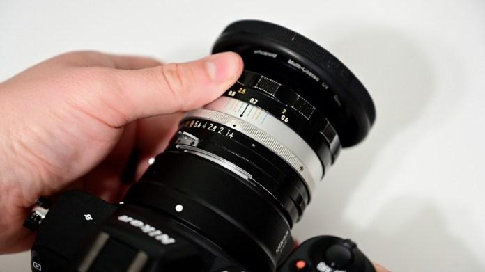 Vintage Nikon f/1.4 50mm lens on the Nikon Z5