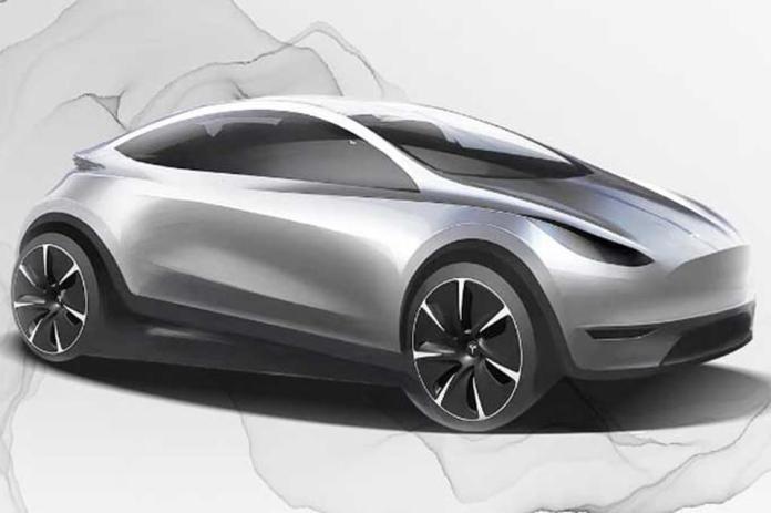 Tesla artist impress of future EV