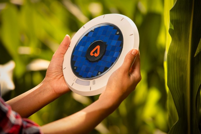 Arable's internet of things crop sensor.