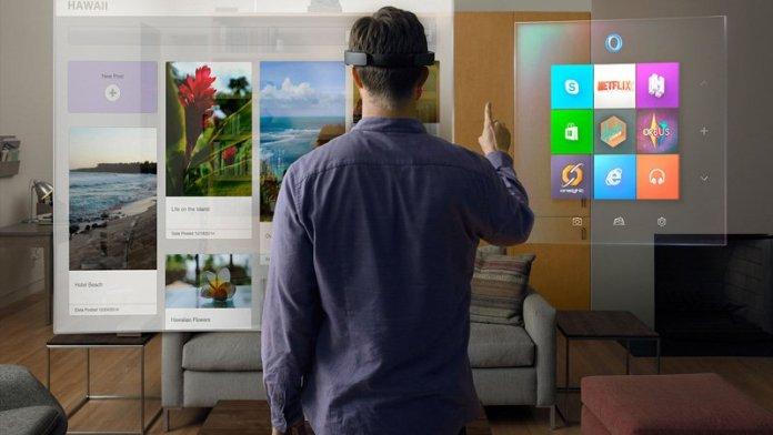 Apple AR & VR: Microsoft Hololens Augmented Reality