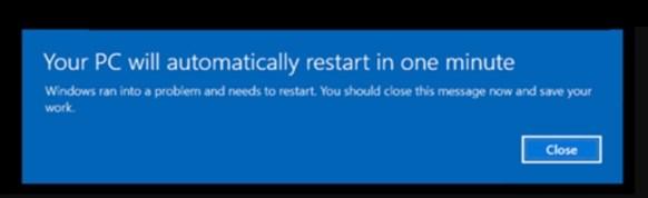 Windows forced reboot