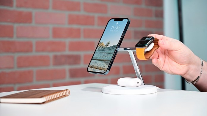 Placing Apple Watch on the Boost Charge Pro