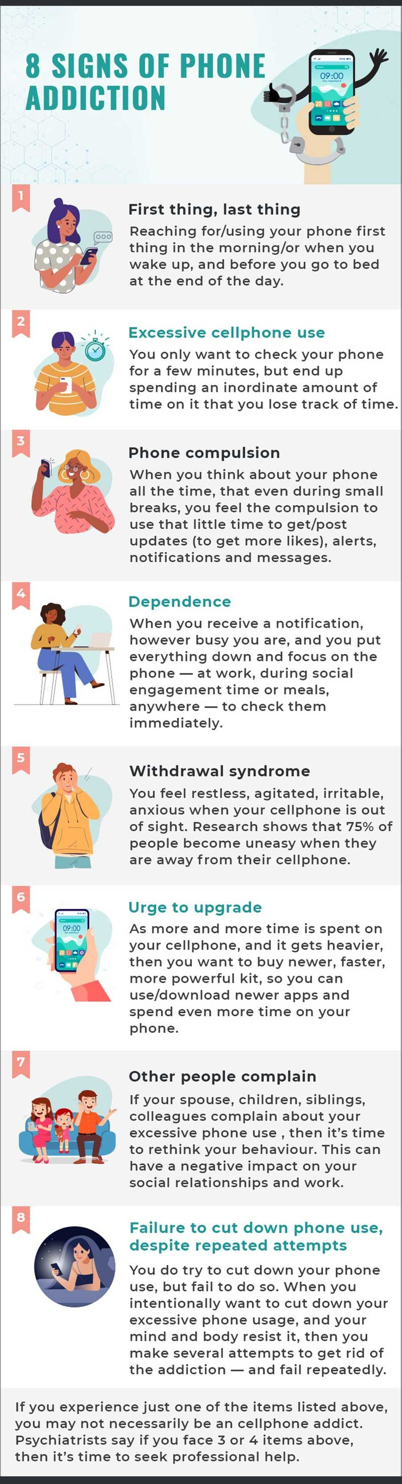 Signs of Phone addiction