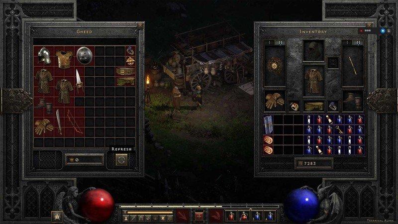 Diablo 2 Resurrected Tech Alpha Gamble Refresh