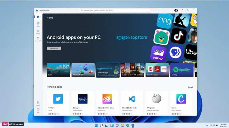 Windows 11 Android App Store