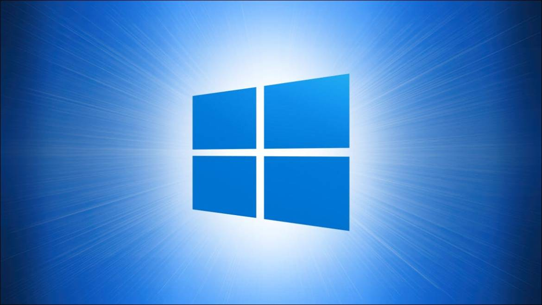 Windows 10 Logo on Blue Hero
