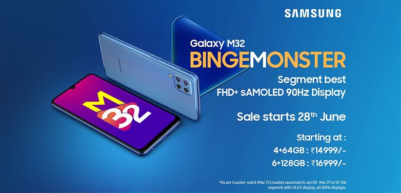 Samsung Galaxy M32 Bingemonster