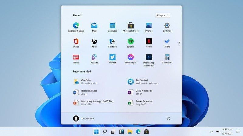 Windows 11 Start Screenshot