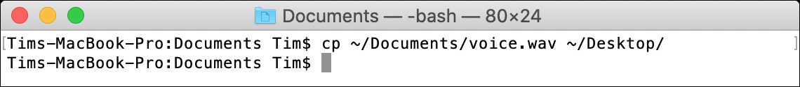 cp macOS Terminal Command