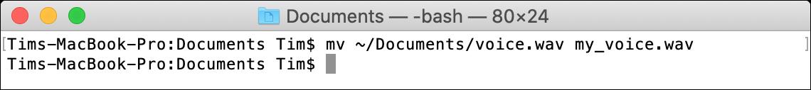 mv macOS Terminal Command