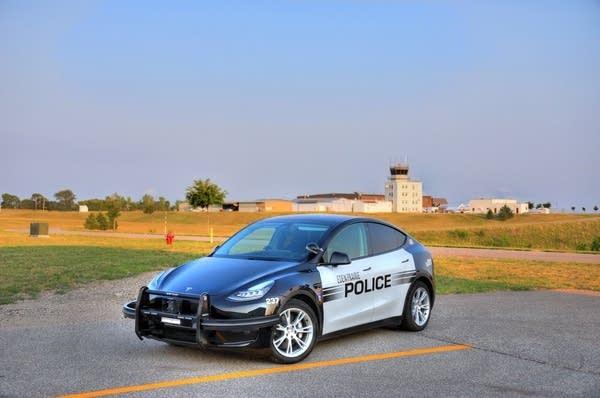 An electric police car.