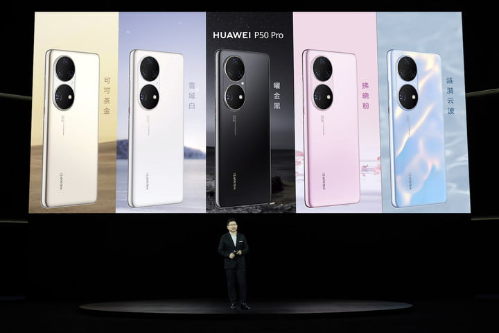 Huawei P50 Series launch event.
