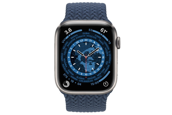 Apple Watch 7 World Time face.