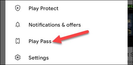 "Select ""Play Pass."""