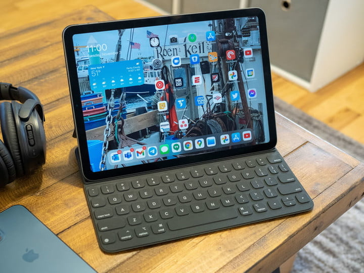 iPad Air on Wooden Table