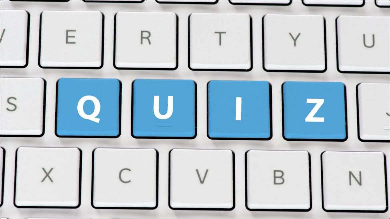 "Closeup of a keyboard spelling ""quiz"""