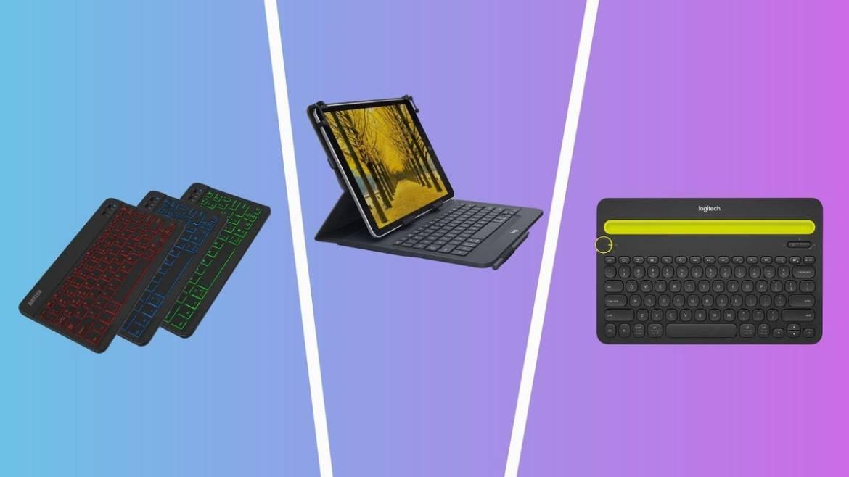 best tablet keyboards including arteck HB030B, logitech universal folio, and logitech k480