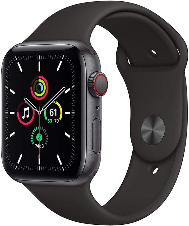 Apple watch se black on a white background