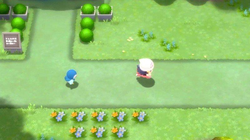 Pokemon Brilliant Diamond Shining Pearl Piplup Following