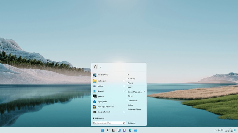 Windows 7 style Start menu on Windows 11