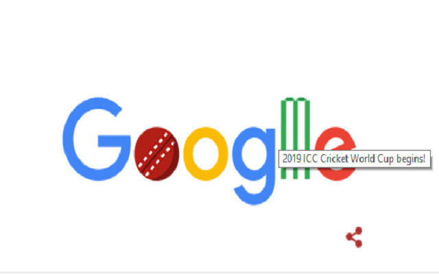 Google Welcomes Cricket World Cup 2019 with Sporty Doodle