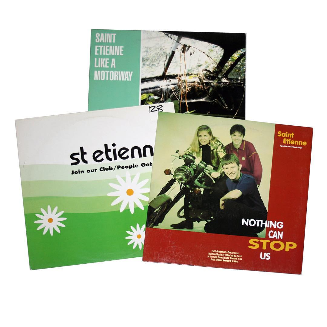 "Lot of (3) Saint Etienne 12"" Singles"