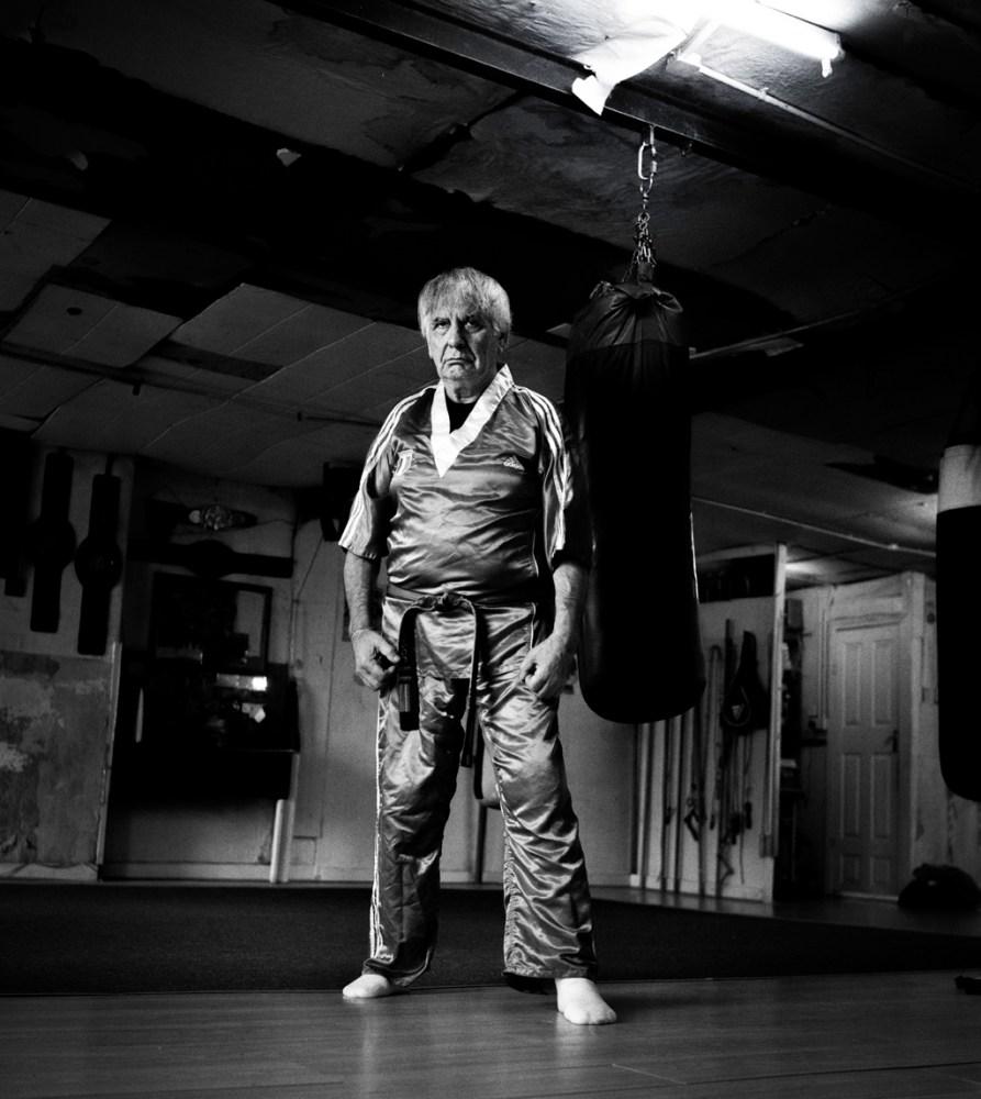 © David Jazay, Kickboxing trainer Filippo Fusco in his Gym, Meath St. Dublin, Dublin, 2014