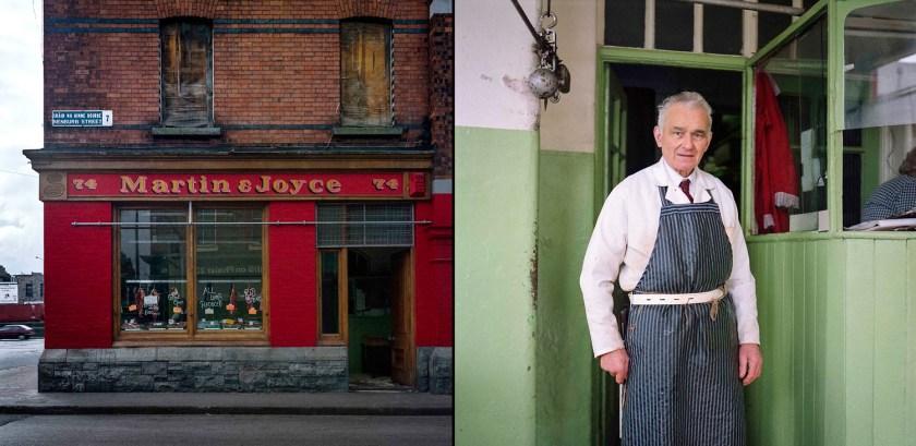 © David Jazay, Patrick Gallagher of Martin Joyce's butcher shop, Benburb Street, Dublin, 1992