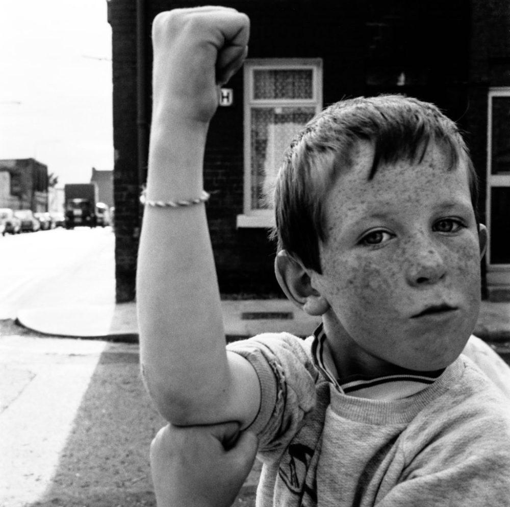 © David Jazay, Boy in Lurgan Street, Dublin, 1988