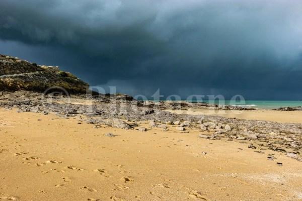 Orage sur la mer à Saint-Malo