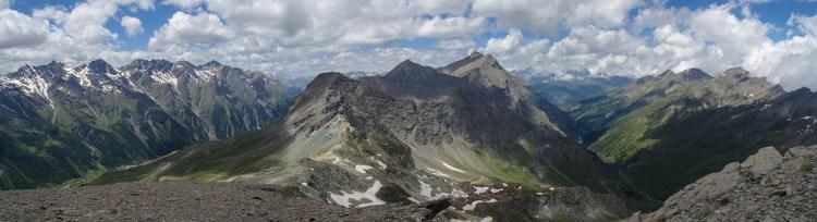 La vue sur le val Troncea depuis le Monte Appenna