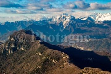 La crete du Monte Lieto depuis le Monte Gabberi