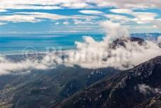 Les Alpes au-delà du golfe de Gènes depuis le mont Prana !