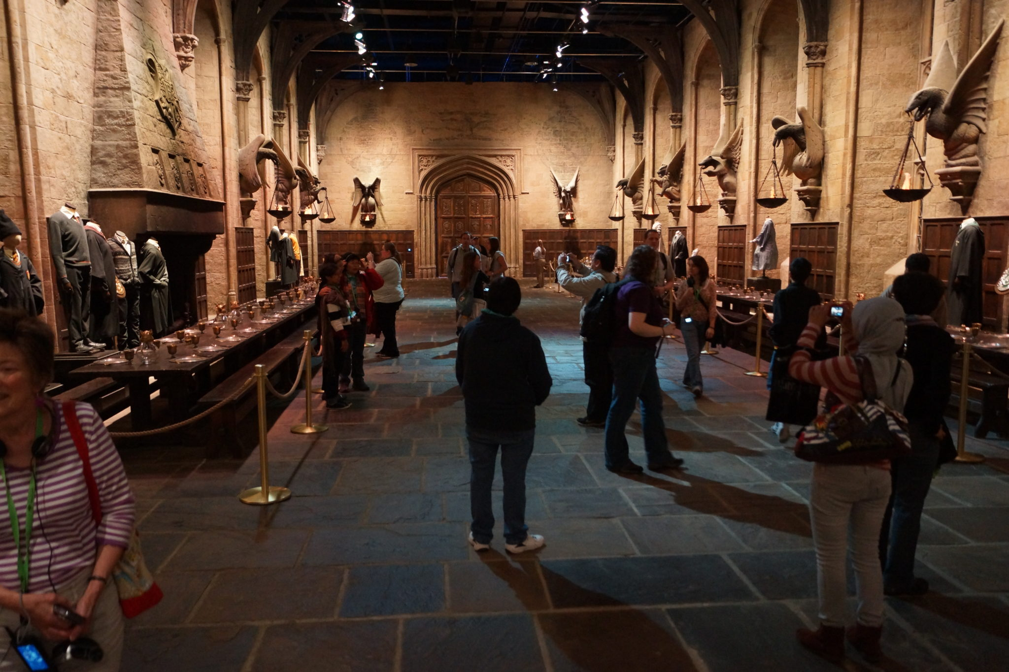 The Great Hall at Hogwarts set