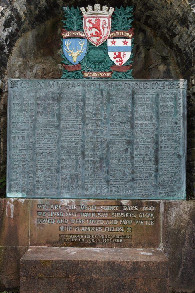 Clan McRae Roll of Honor at Eilean Donan Castle