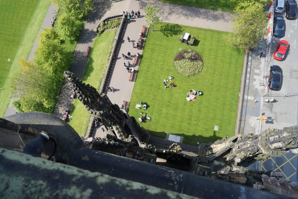 View of Princes Street Gardens from Scott Monument