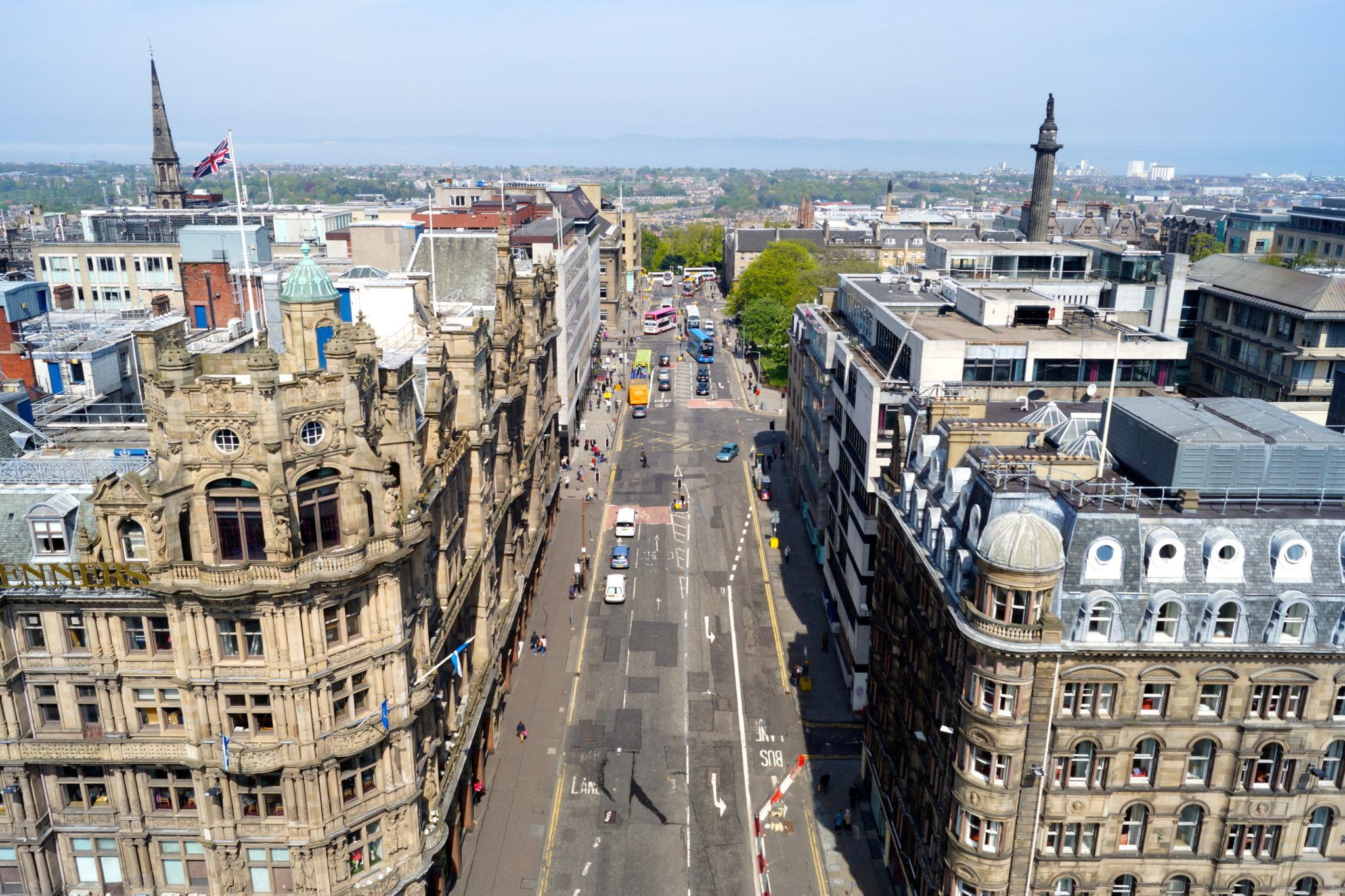 View from Scott Memorial Edinburgh