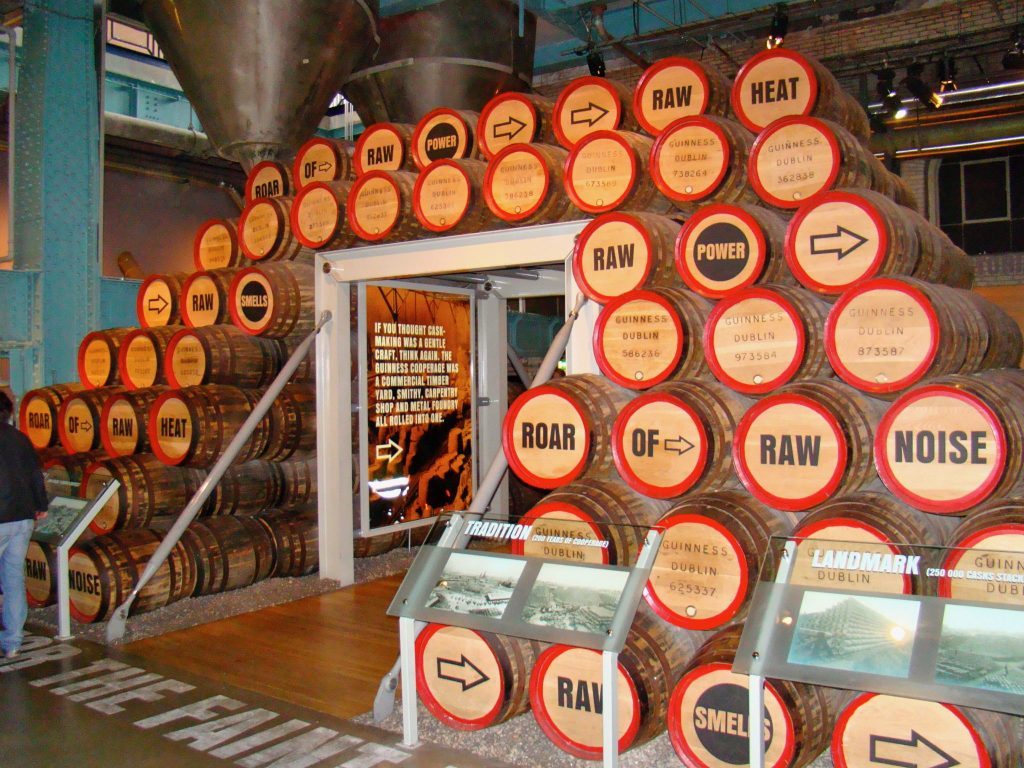 Display at the Guinness Storehouse