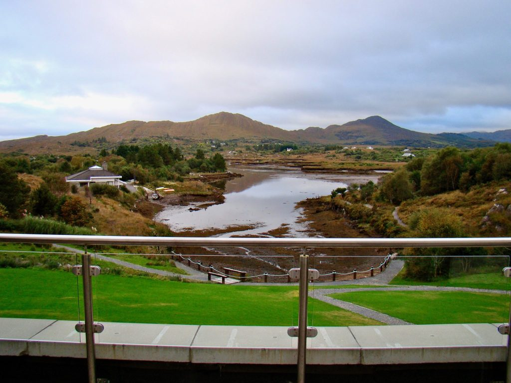 View from Sneem Hotel in Ireland