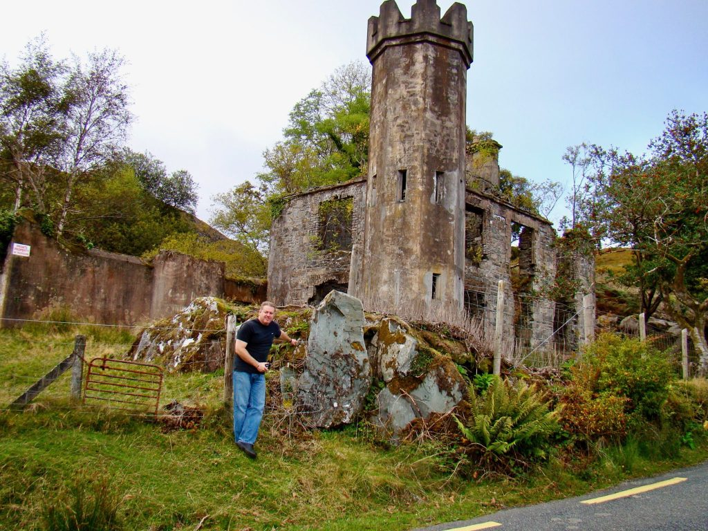 random castle on Ring of Kerry