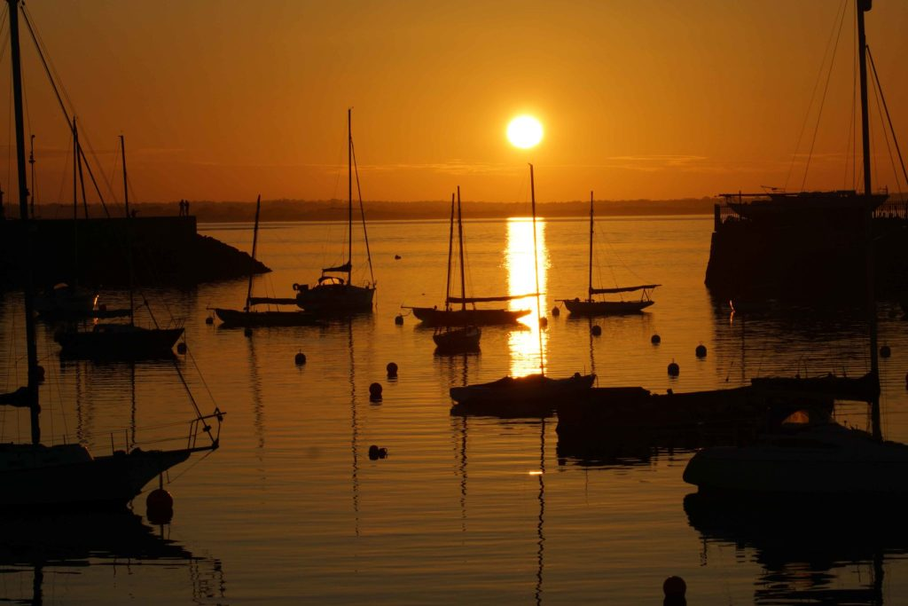 Sunset at Howth Harbor & Pier Ireland