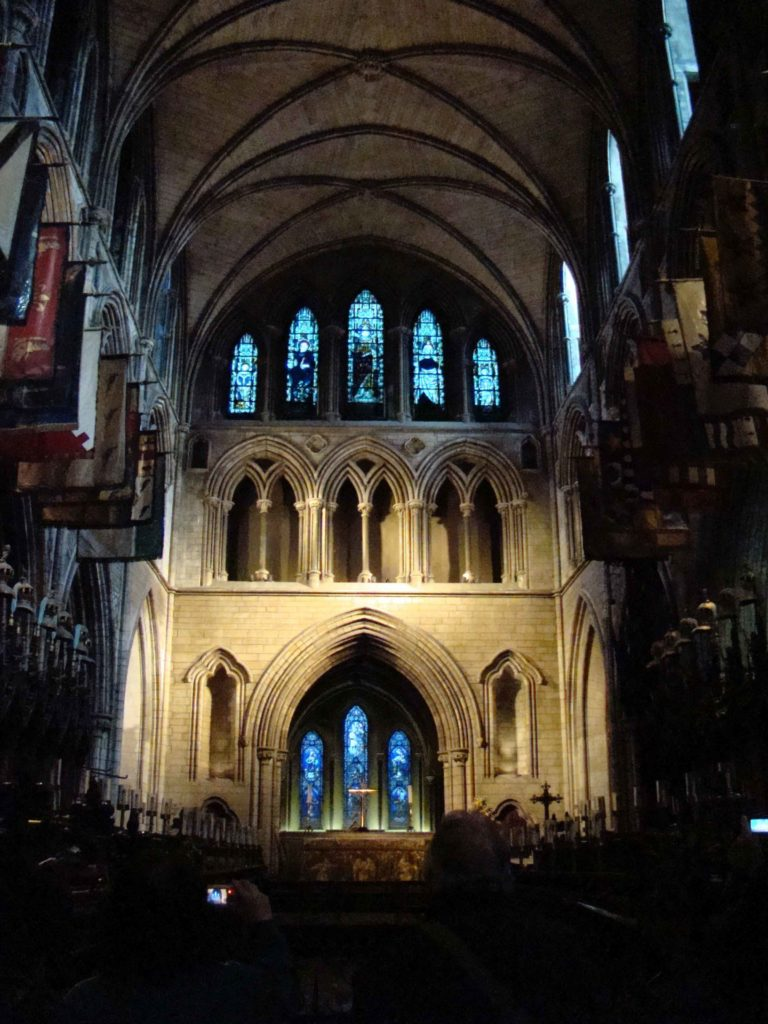 Altar in main nave at Saint Patrick's Cathedral Dublin