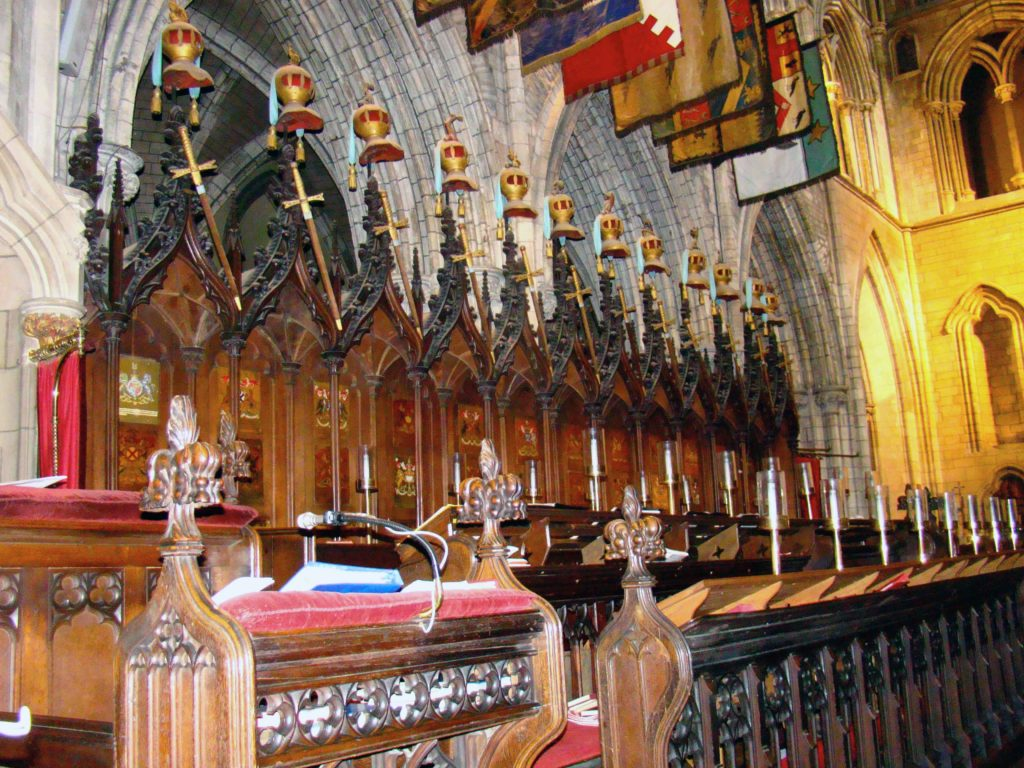 Choir stalls of Saint Patrick's Cathedral Dublin