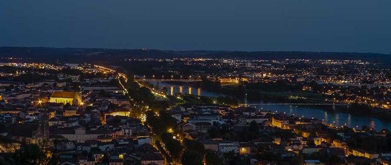 Photo semaine 38 Vue Générale Agen la nuit©photo Patrick Clermont