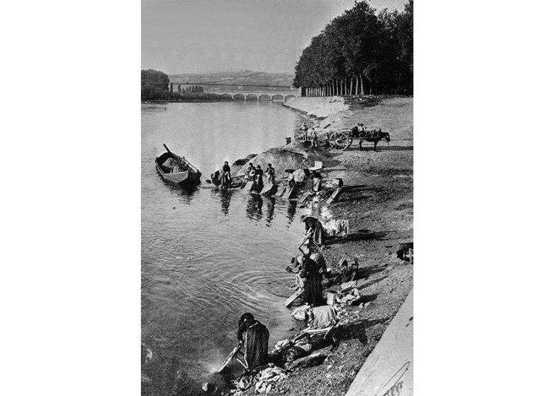 Lavandiières de la garonne en 1903©photo archive Patrick Clermont