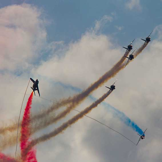 Figures de la Patrouille de France ©photo Patrick Clermont
