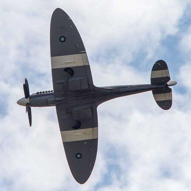 Le spitfire PR Mk XIX était la dernière variantes des Spitfires de reconnaissance photo.©photo Patrick Clermont