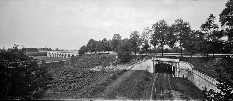 Pont canal et chemin de fer