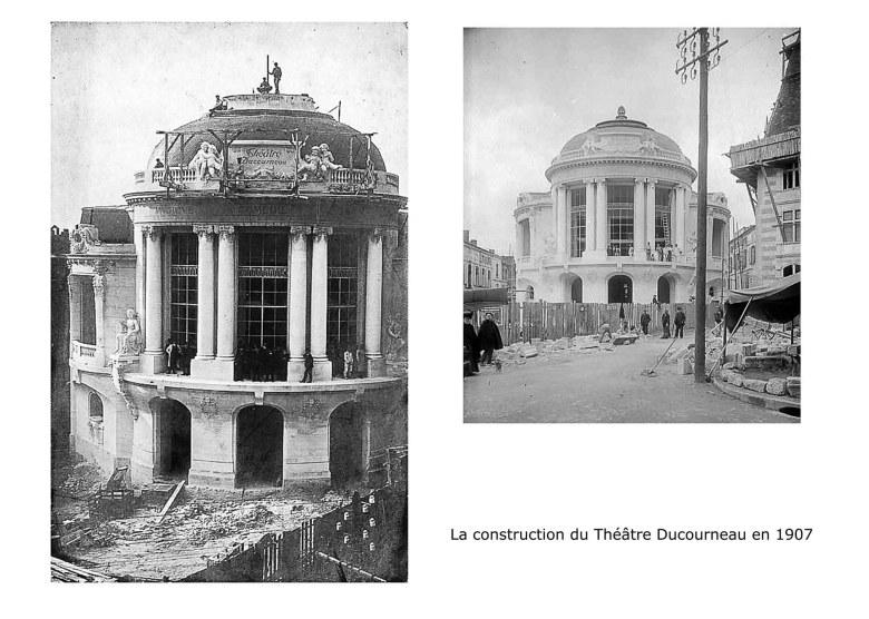 Agen La construction du nouveau Théâtre Municipal Ducourneau en 1907